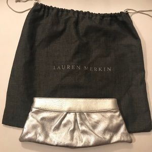 Lauren Merkin Metallic Clutch